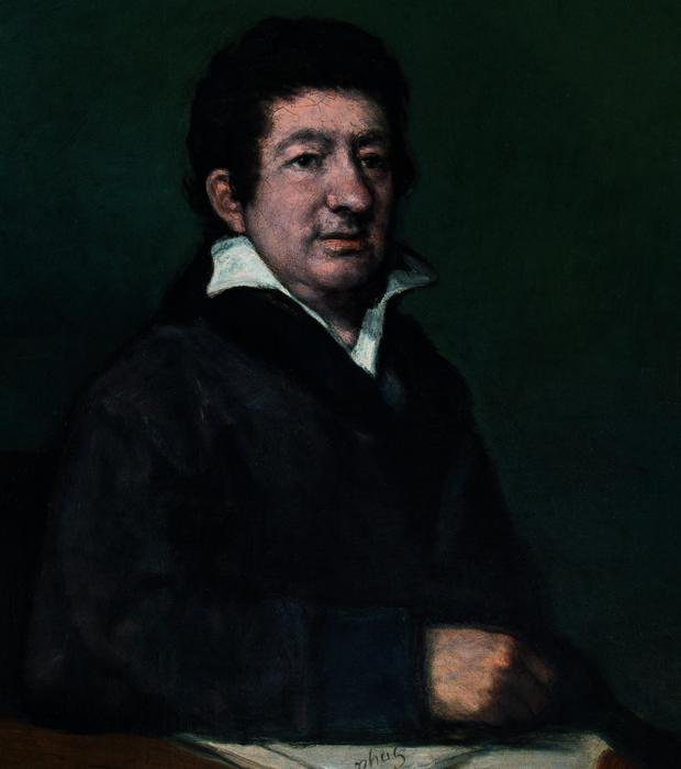 «Retrato de Moratín» de Goya, pintado en 1824