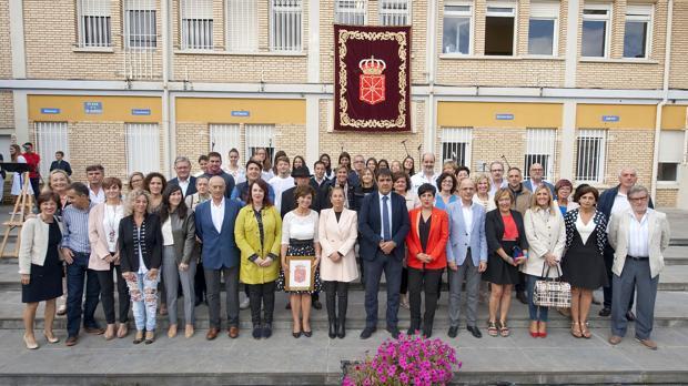 Inauguración institucional del curso escolar en el Instituto Marqués de Villena de Marcilla, el pasado mes de septiembre