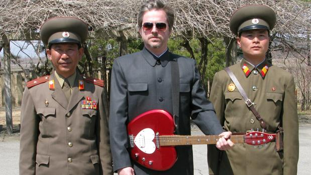 Morten Traavik, durante la gira de Laibach en Corea del Norte