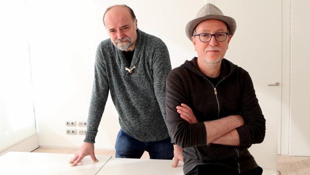 Antoni Guiral (a la izquierda) y Javier Olivares, en el Museo ABC