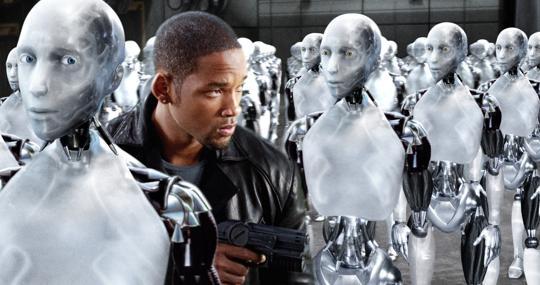 Imagen de «Yo, robot», película basada en el libro de Isaac Asimov
