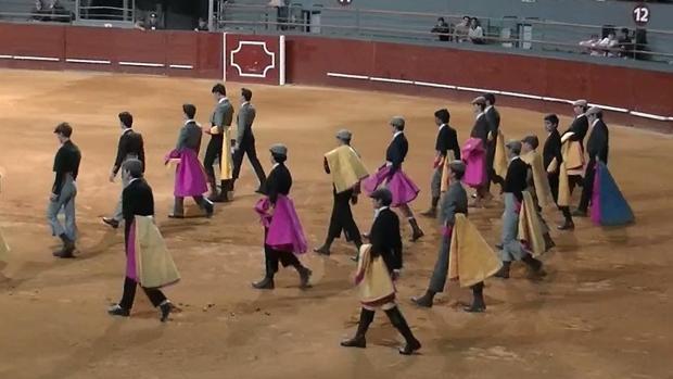 Alumnos de distintas escuelas taurinas en Vistalegre
