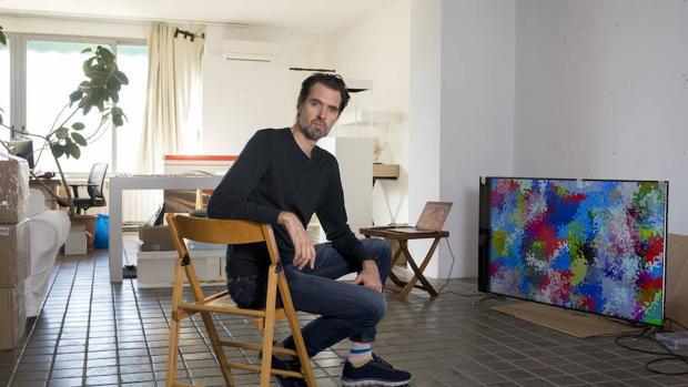 Daniel Canogar en su estudio-taller de Madrid