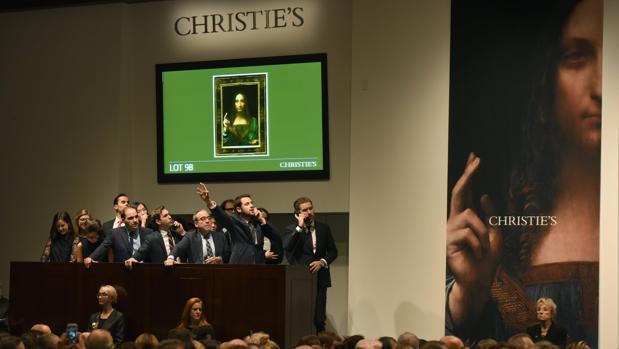 Momento de la histórica subasta, el viernes en la sala Christie's de Nueva York