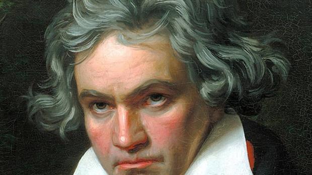 Ludwig van Beethoven en un retrato de Joseph Karl Stieler realizado en 1820, siete años antes de su muerte