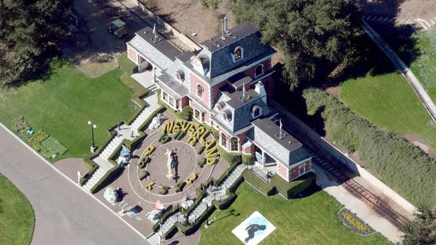 Panorámica del rancho Neverland en California