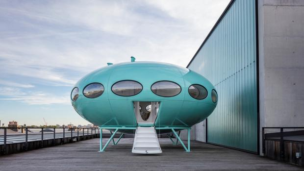 Casa del Futuro de plástico, en módulos,realizada por la empresa Polykem Oy