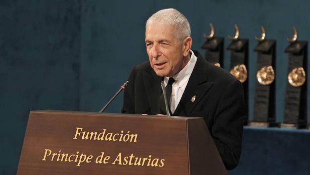 Leonard Cohen dedicó su discurso a García Lorca al recibir en 2011 el Premio Príncipe de Asturias