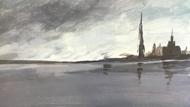 Obra de la exposición «Oda al mar: arte de la Bahía de Guantánamo»