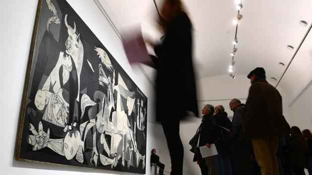 El «Guernica», en el museo Reina Sofía