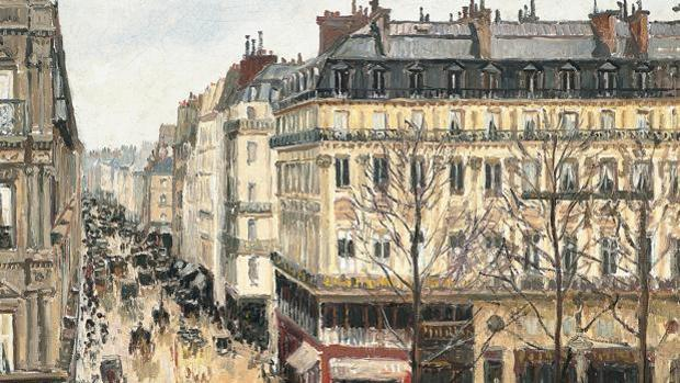 «Rue Saint-Honoré, après midi, effet de pluie», de Pissarro