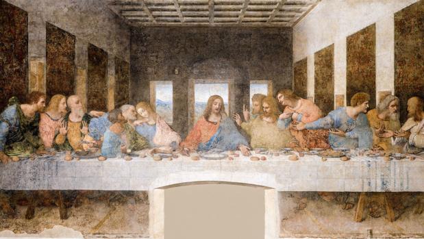 El cuadro identificado es una réplica de «La última cena», en la imagen