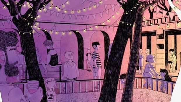 Ilustración de «El final de todos los agostos», de Alfonso Casas (Lunwerg)