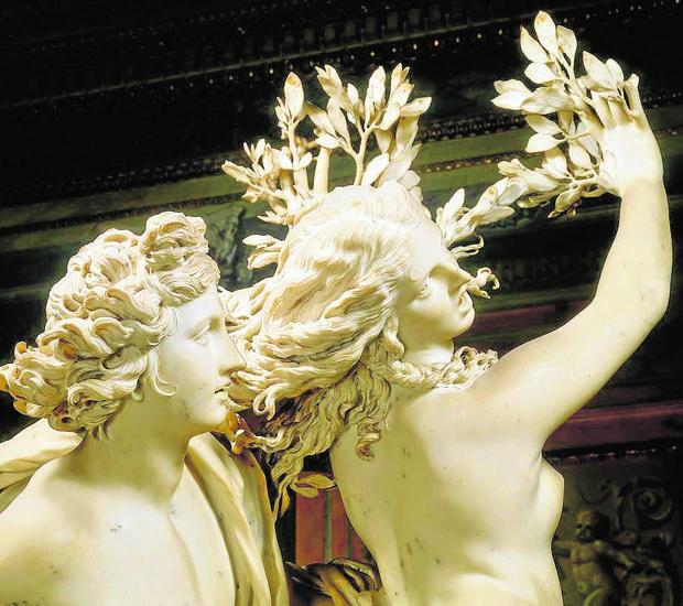 Daphne y Apolo, de Bernini, basada en las Metamorfosis de Ovidio