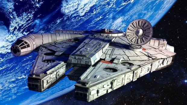 El Halcón Milenario de «La guerra de las galaxias»