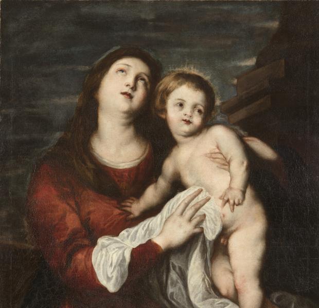 «Virgen con el niño», de Van Dyck