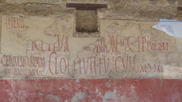 Uno de los grafitis de la ciudad de Pompeya