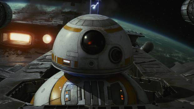 BB-8, en una escena de «Star Wars: Los últimos Jedi»