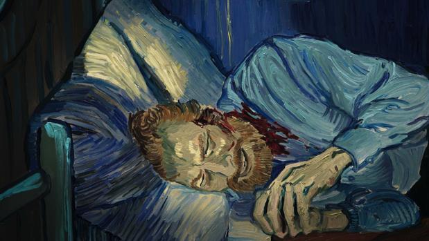 Imagen de la película, cuando Van Gogh se corta la oreja