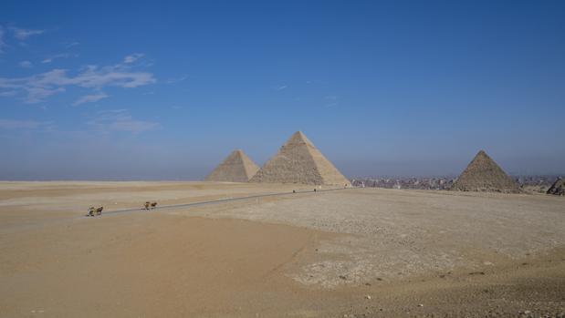 Las pirámides de Guiza, en Egipto