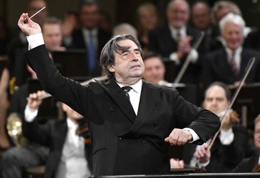 Riccardo Muti, durante el concierto