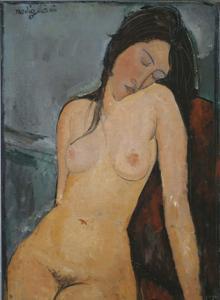 La obra de Modigliani mostrada en el aula