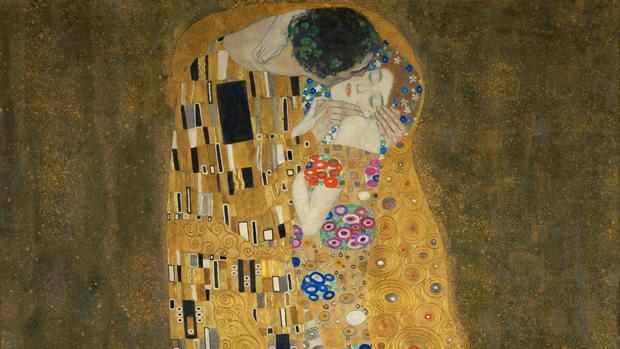 Detalle de «El beso», de Klimt