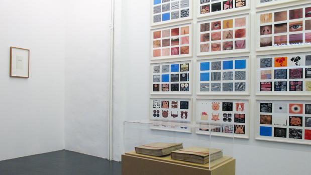 Detalle del montaje de la última exposición de Daniel G. Andújar en Casa Sin Fin