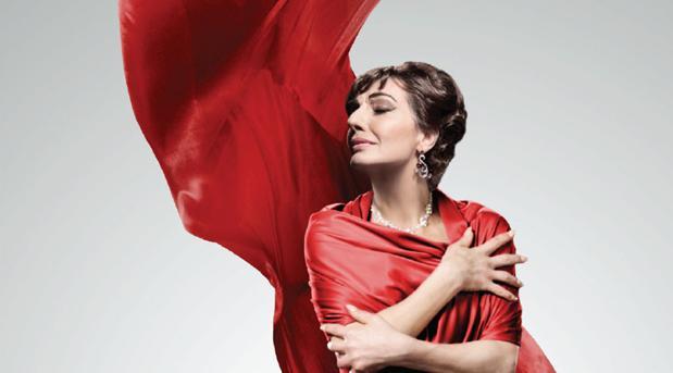 Maria Callas, en el cartel anunciador de «Callas in Concert»