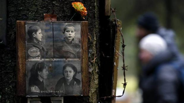 Homenaje en San Petersburgo en 2016 a las víctimas de Stalin