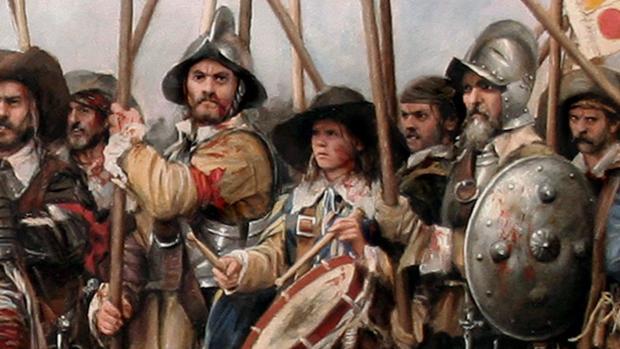 Detalle del cuadro de «Rocroi, el último tercio»