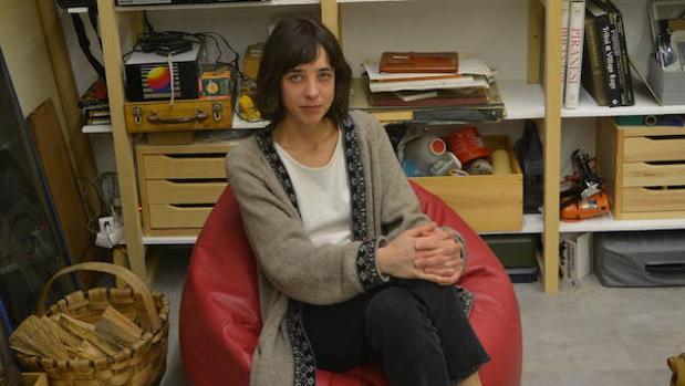 Elena Alonso, artista, en su estudio en Madrid