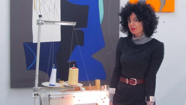 Sonia Navarro en su lugar de trabajo en Nave Oporto