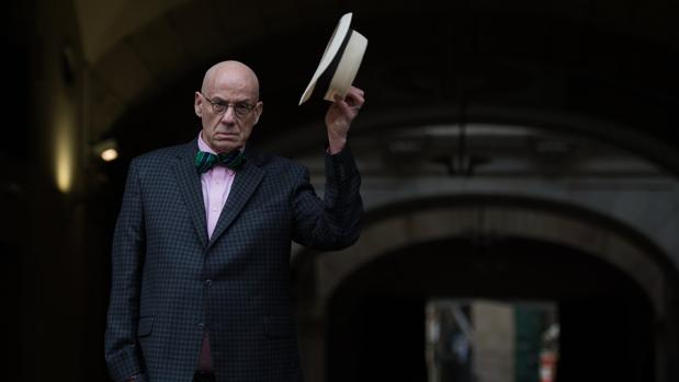 James Ellroy, ayer en Barcelona