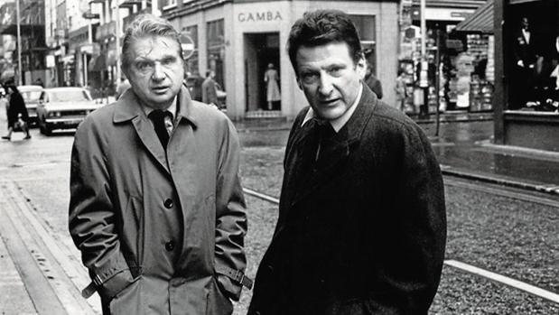 Francis Bacon (a la izquierda) y Lucian Freud, retratados por Harry Diamond en 1974