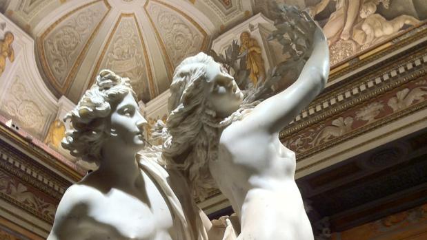 Detalle de «Apolo y Dafne», de Bernini