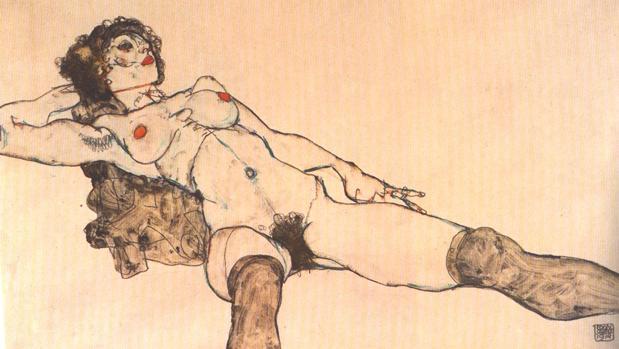 Uno de los desnudos de Schiele