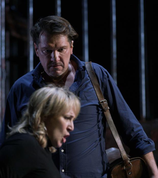 Paulo Szott y Patricia Racette, durante un ensayo de «Street Scene»