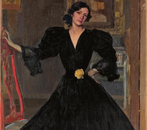«Clotilde con traje negro» (1906), de Joaquín Sorolla. Detalle