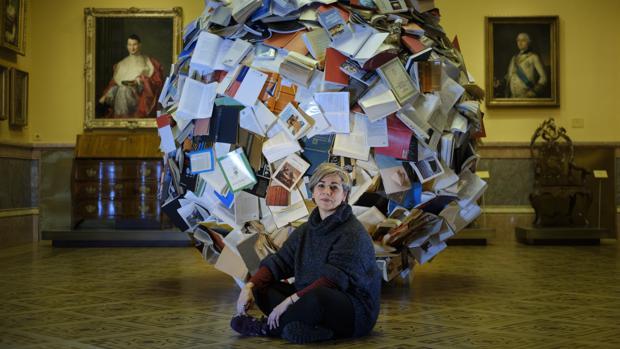 La artista en el Museo Lázaro Galdiano