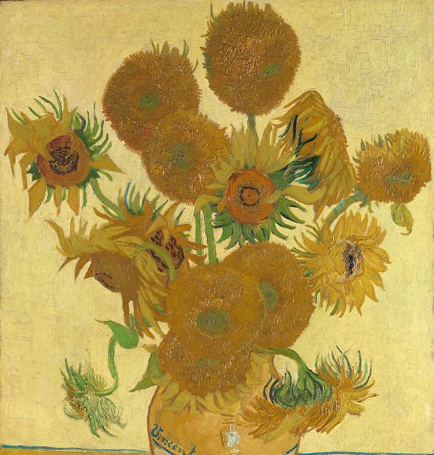 «Los girasoles», una pieza rara vez prestada por la National Gallery de Londres, es una de las 40 obras que componen la exposición