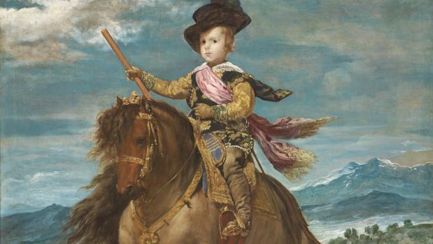 «El príncipe Baltasar Carlos, a caballo», Velázquez (hacia 1635)