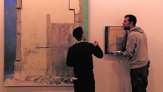 Montaje en la galería Luisa Strina
