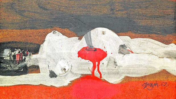 Estudio de Alejandro Obregón para su célebre obra «Violencia», considerado el «Guernica» colombiano
