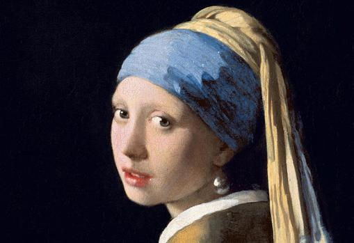 «La joven de la perla», de Vermeer. Detalle