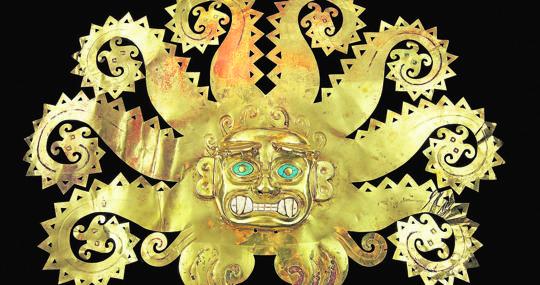 Adorno en forma de pulpo, Cultura Moche, Perú