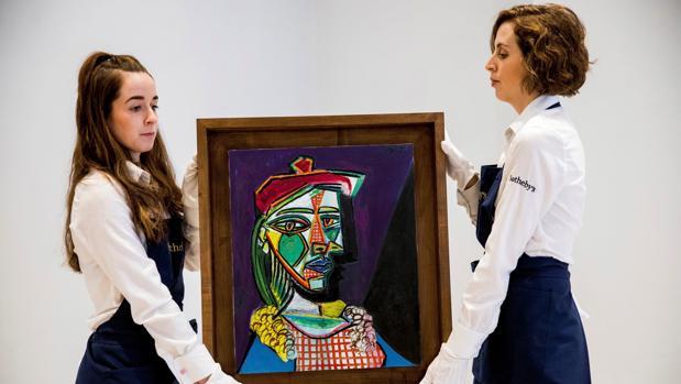 «Mujer con boina y vestido de cuadros», de Picasso