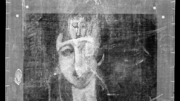Los rayos X hicieron posible el descubrimiento del retrato, oculto detrás de «Portrait of a Girl» (1917)