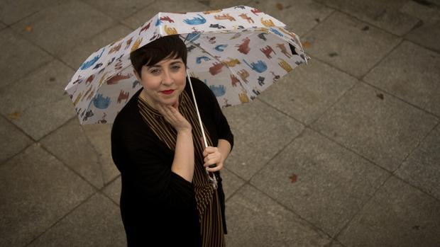 Elena Medel, fotografiada en el madrileño barrio de La Latina poco después de la entrevista