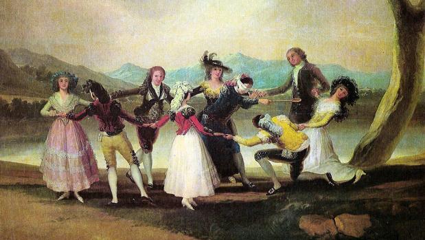 «La gallinita ciega», una de las obras más célebres de Goya
